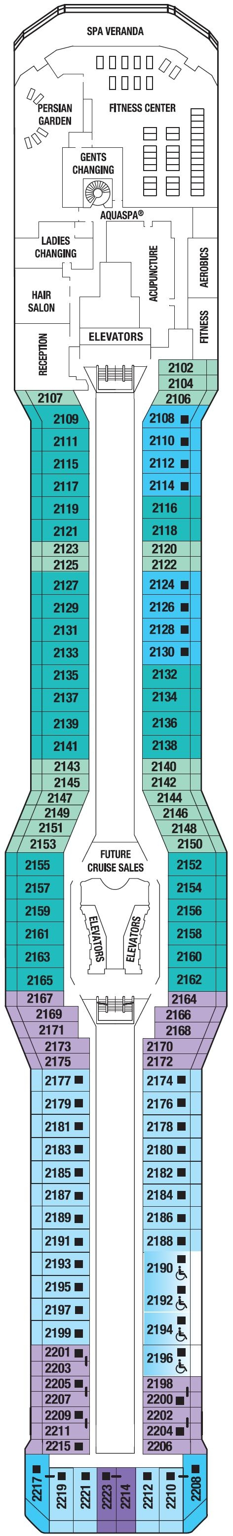 Symphony of the Seas Deck 11 Deck Plan Tour