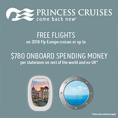 FREE Flights and FREE transfers on selected Fly Europe voyages