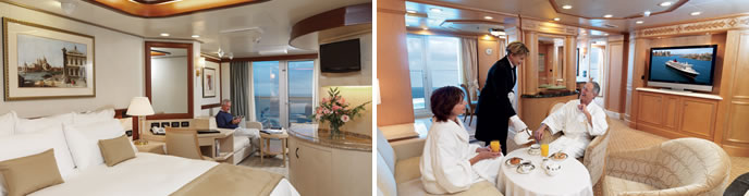 Cunard Cruises - Grills Accommodation