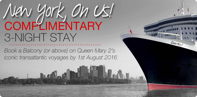Cunard - Free 3-night stay in New York