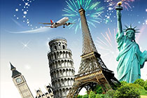 New Year in Europe by Plane