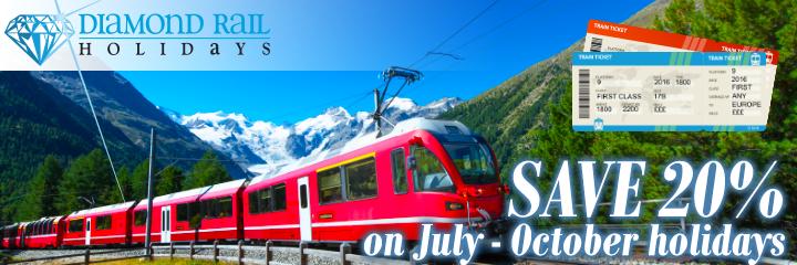 Save up to 20% with Diamond Rail Holidays