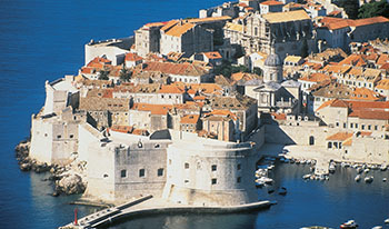 An aerial view of Dubrovnik
