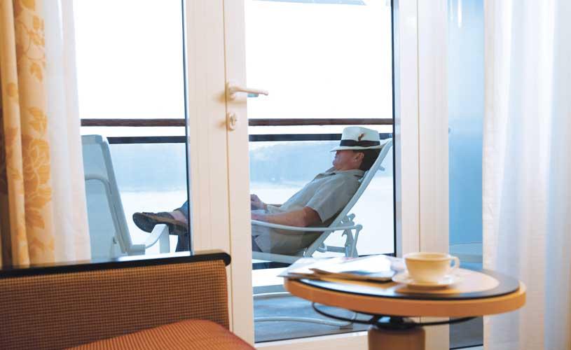 Cunard balcony