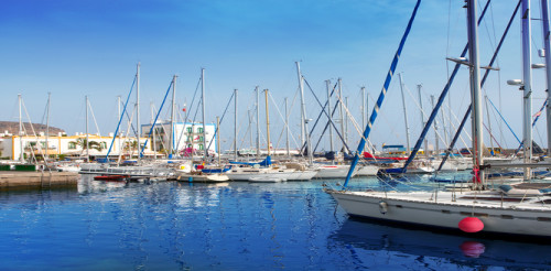 Small Canarian port
