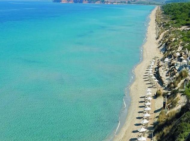 Kassandra beach in Sani