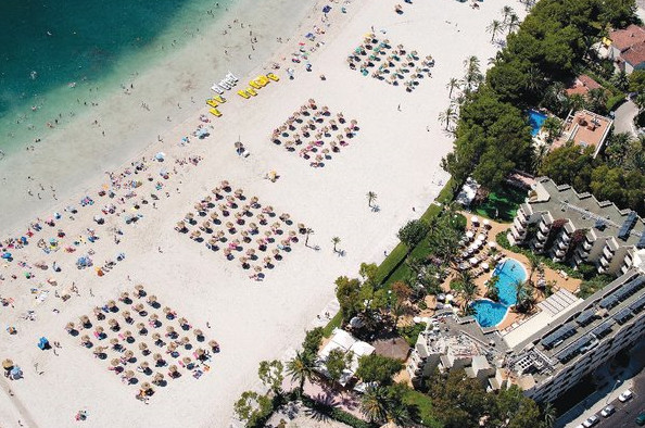 Aerial view of Alcudia beach