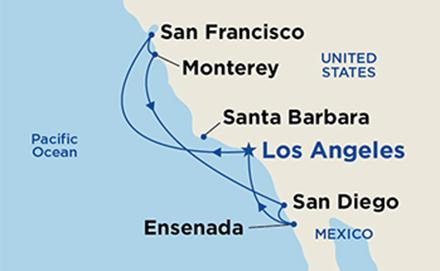 Classic California Coastal itinerary map