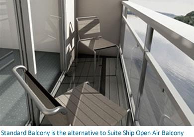 standard river cruise ship balcony