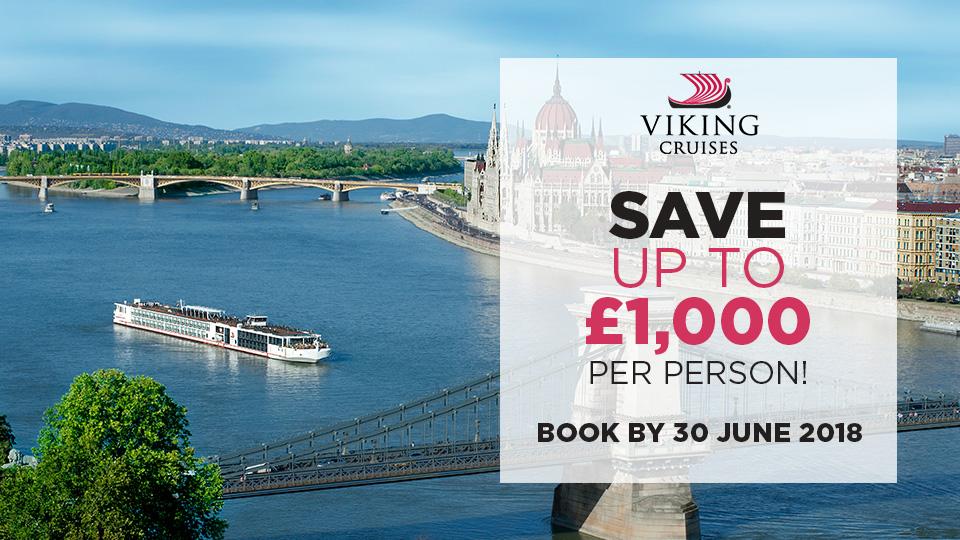 Viking River Cruises - Up to £1,000 savings