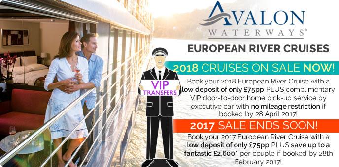 Avalon Waterways - Free Chauffeur Transfers