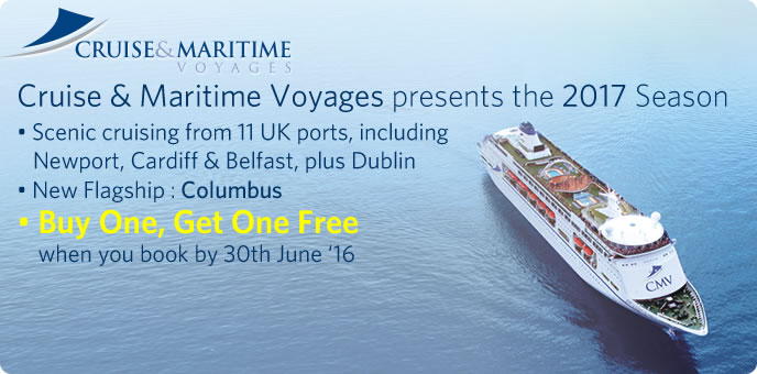 Buy One, Get One Free with Cruise & Maritime Voyages