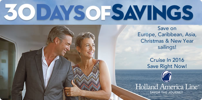 Holland America Flights & Save Offers