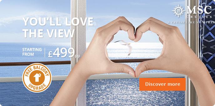 MSC Cruises - Free Upgrade to Balcony