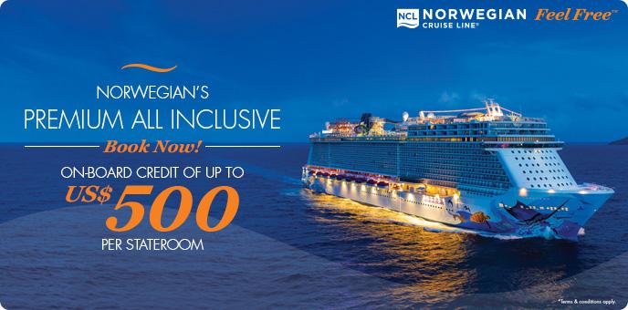 Norwegian Cruise Line - $500 Onboard Credit