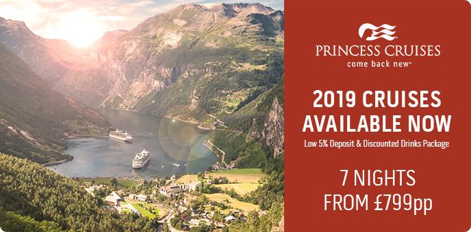 Princess Cruises - Low Fares & 5% deposit