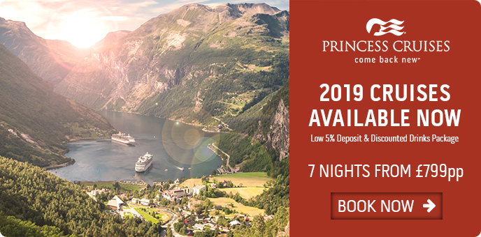 Princess Cruises - 2019 Now On Sale