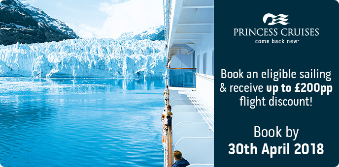 Princess Cruises - Up To £200pp Air Discount On Alaska Cruises - Book by 30th April 2018