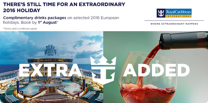 Royal Caribbean Europe Drinks Sale