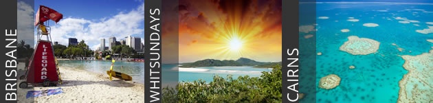 Brisbane, Whitsunday Islands, Cairns - Great Barrier Reef