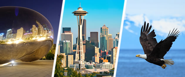 North American Scenes & Alaska Cruise and Stay