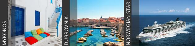 Mykonos, Dubrovnik and Norwegian Star