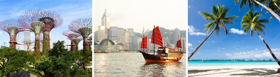Singapore, Hong Kong & Boracay