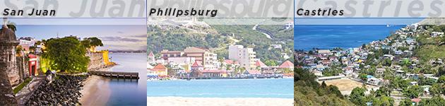San Juan, Philipsburg & Castries