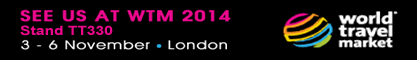 See us at WTM Stand TT330 - 3rd - 6th Nov - London