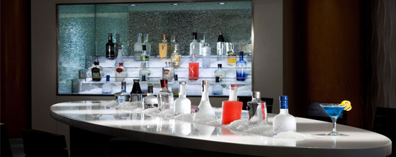 A choice of drinks from all around the world on luxury cruises