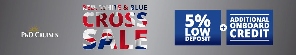 Red, White & Blue Cross Sale - 5% low deposit and Additional on board spend