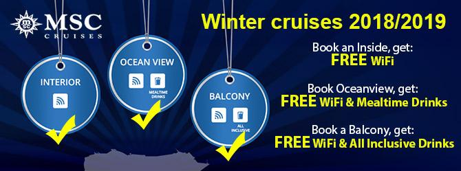 MSC Winter 2019/20 Winter Cruises