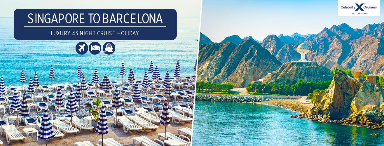 Luxury Celebrity Constellation cruise holiday from Asia to Europe via the Middle East